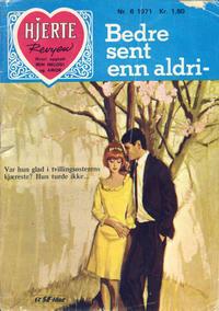 Cover Thumbnail for Hjerterevyen (Serieforlaget / Se-Bladene / Stabenfeldt, 1960 series) #6/1971