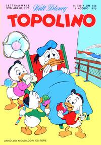 Cover Thumbnail for Topolino (Arnoldo Mondadori Editore, 1949 series) #768