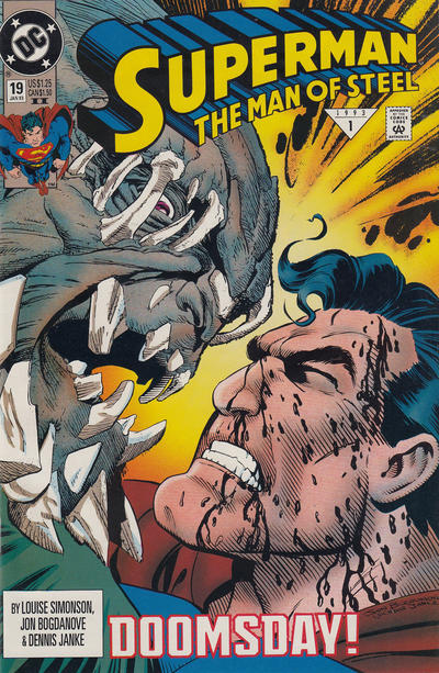 Cover for Superman: The Man of Steel (DC, 1991 series) #19 [Direct Sales]