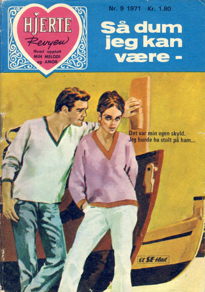 Cover for Hjerterevyen (Serieforlaget / Se-Bladene / Stabenfeldt, 1960 series) #9/1971
