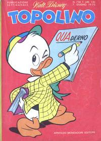 Cover Thumbnail for Topolino (Arnoldo Mondadori Editore, 1949 series) #758
