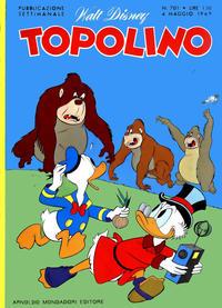 Cover Thumbnail for Topolino (Arnoldo Mondadori Editore, 1949 series) #701