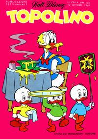Cover Thumbnail for Topolino (Arnoldo Mondadori Editore, 1949 series) #724