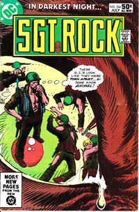 Cover Thumbnail for Sgt. Rock (DC, 1977 series) #354 [Direct]