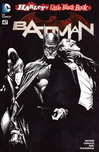 Cover Thumbnail for Batman (DC, 2011 series) #47 [Harley's Little Black Book Alex Ross Black & White Cover]