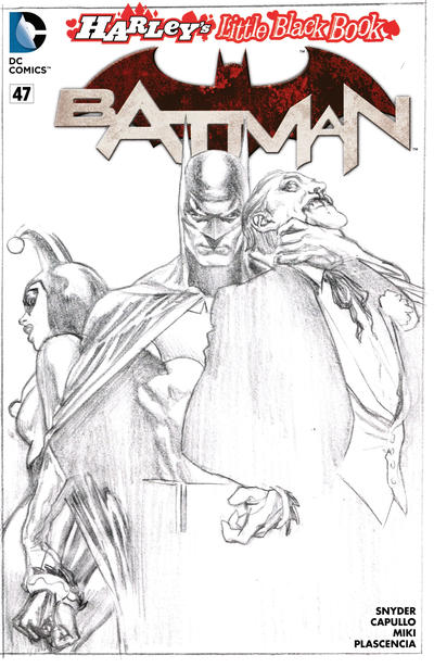 Cover for Batman (DC, 2011 series) #47 [Harley's Little Black Book Alex Ross Sketch Cover]