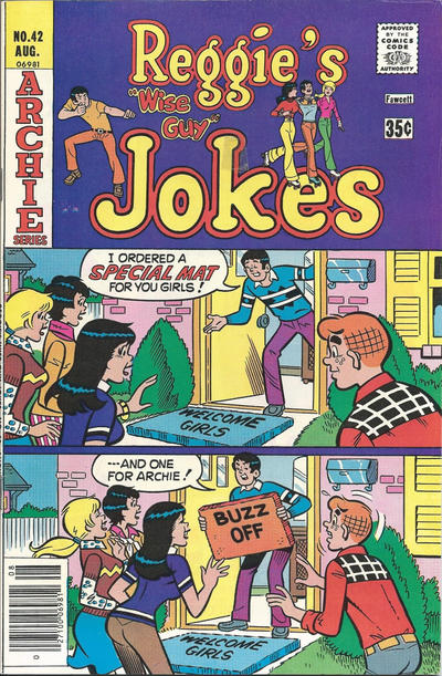 Cover for Reggie's Wise Guy Jokes (Archie, 1968 series) #42