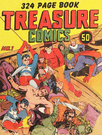 Cover for Treasure Comics (Prize, 1943 series) #1