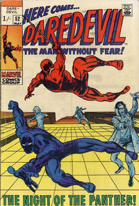 Cover Thumbnail for Daredevil (Marvel, 1964 series) #52 [British Price Variant]