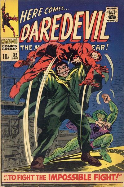 Cover for Daredevil (Marvel, 1964 series) #32 [British Price Variant]