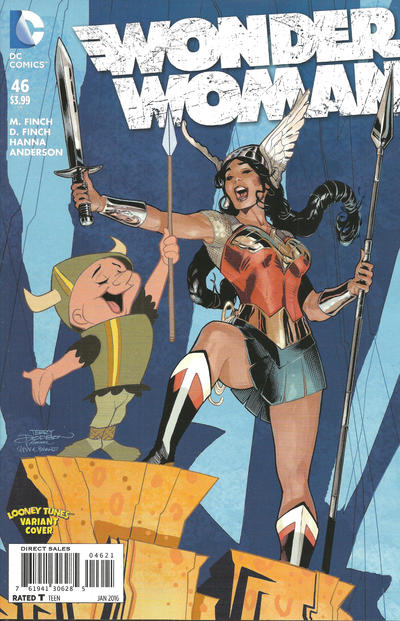 Cover for Wonder Woman (DC, 2011 series) #46 [Looney Tunes Variant Cover]