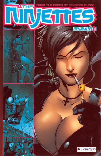 Cover for The Ninjettes (Dynamite Entertainment, 2012 series) #1 [Desjardins cover]