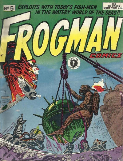 Cover for Frogman Comics (Thorpe & Porter, 1952 series) #5