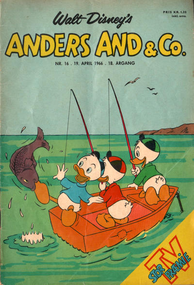 Cover for Anders And & Co. (Egmont, 1949 series) #16/1966