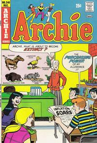 Cover Thumbnail for Archie (Archie, 1959 series) #240
