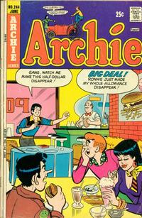 Cover Thumbnail for Archie (Archie, 1959 series) #244