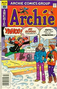 Cover Thumbnail for Archie (Archie, 1959 series) #279