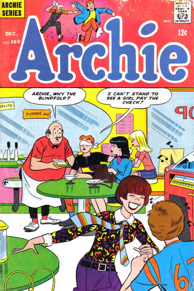 Cover for Archie (Archie, 1959 series) #169