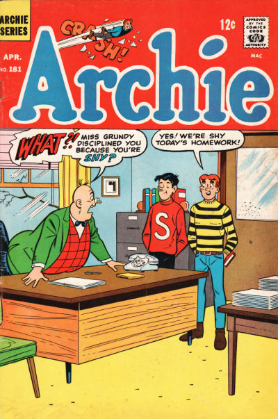 Cover for Archie (Archie, 1959 series) #181