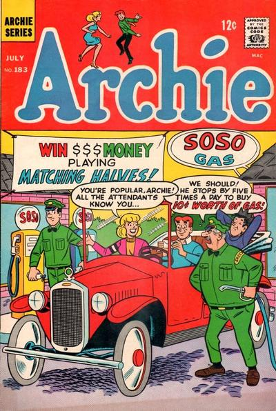 Cover for Archie (Archie, 1959 series) #183