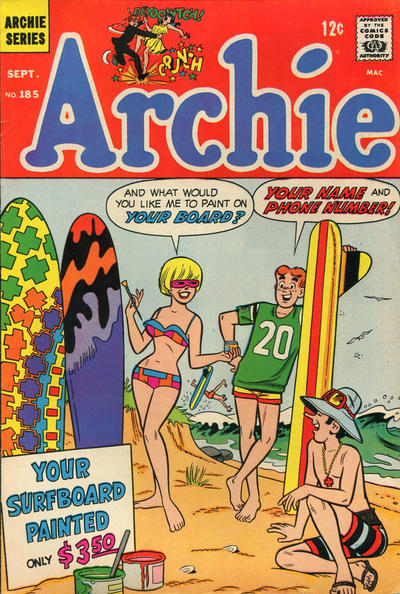 Cover for Archie (Archie, 1959 series) #185
