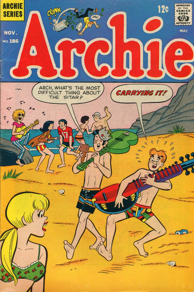 Cover for Archie (Archie, 1959 series) #186