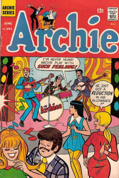 Cover for Archie (Archie, 1959 series) #191