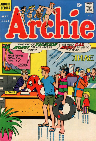 Cover for Archie (Archie, 1959 series) #194