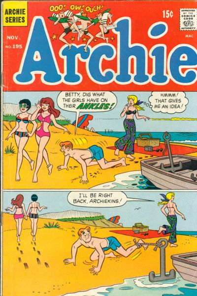 Cover for Archie (Archie, 1959 series) #195