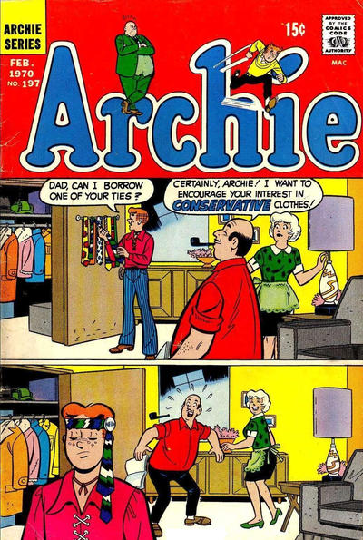 Cover for Archie (Archie, 1959 series) #197