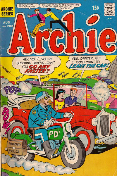 Cover for Archie (Archie, 1959 series) #202