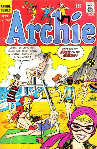 Cover for Archie (Archie, 1959 series) #203
