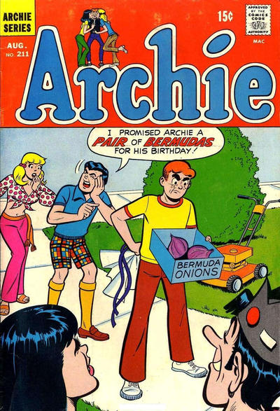 Cover for Archie (Archie, 1959 series) #211