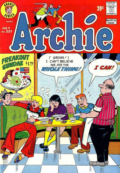 Cover for Archie (Archie, 1959 series) #227