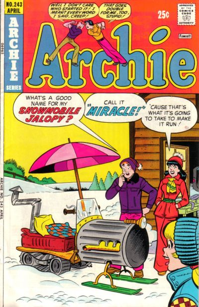 Cover for Archie (Archie, 1959 series) #243