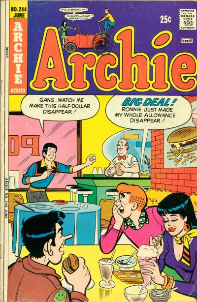 Cover for Archie (Archie, 1959 series) #244