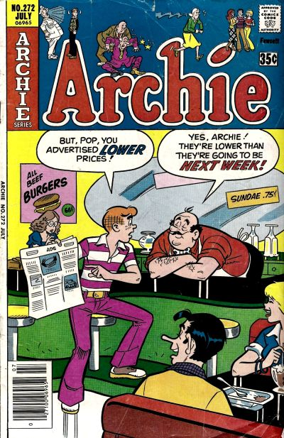 Cover for Archie (Archie, 1959 series) #272