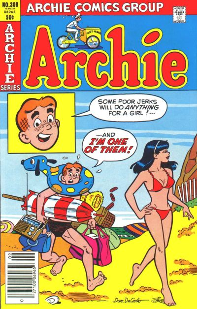 Cover for Archie (Archie, 1959 series) #308