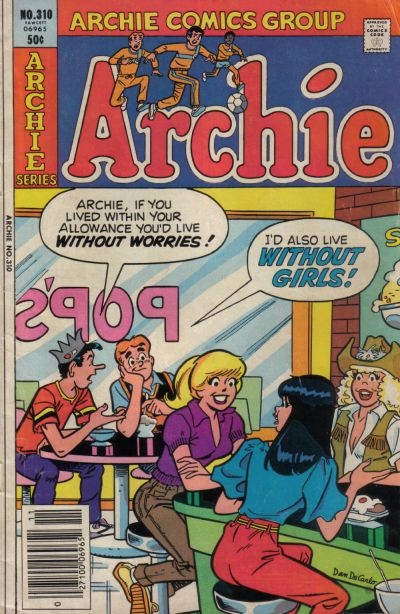 Cover for Archie (Archie, 1959 series) #310