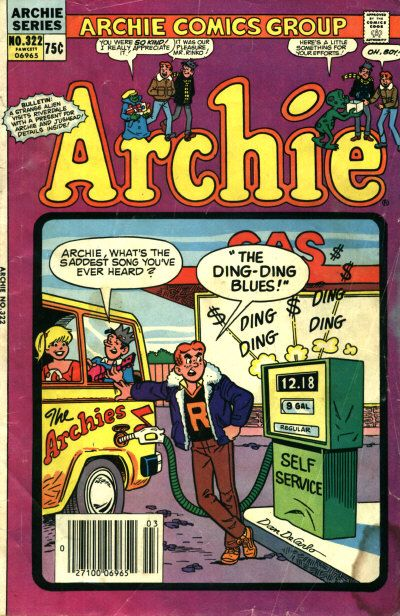 Cover for Archie (Archie, 1959 series) #322 [Canadian price variant]