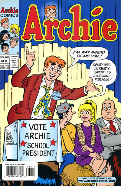 Cover for Archie (Archie, 1959 series) #466