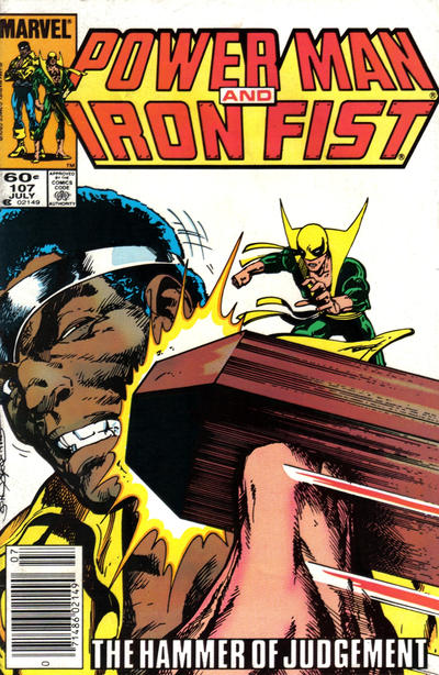 Cover for Power Man and Iron Fist (Marvel, 1981 series) #107