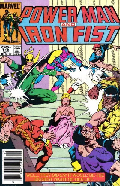 Cover for Power Man and Iron Fist (Marvel, 1981 series) #110 [newsstand]