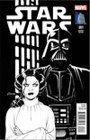 Cover for Star Wars (Marvel, 2015 series) #1 [Vault Collectibles Exclusive Amanda Conner Black and White Variant]
