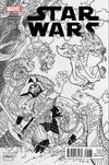 Cover Thumbnail for Star Wars (2015 series) #1 [Beach Ball Comics Exclusive Stan Sakai Black and White Variant]