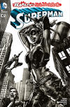 Cover for Superman (DC, 2011 series) #47 [Harley's Little Black Book Lee Bermejo Black and White Variant]