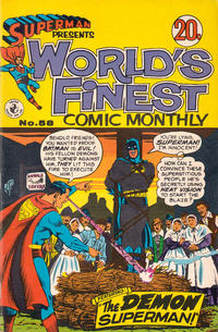 Cover Thumbnail for Superman Presents World's Finest Comic Monthly (K. G. Murray, 1965 series) #58