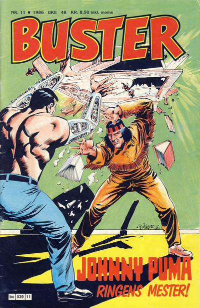 Cover for Buster (Semic, 1984 series) #11/1986