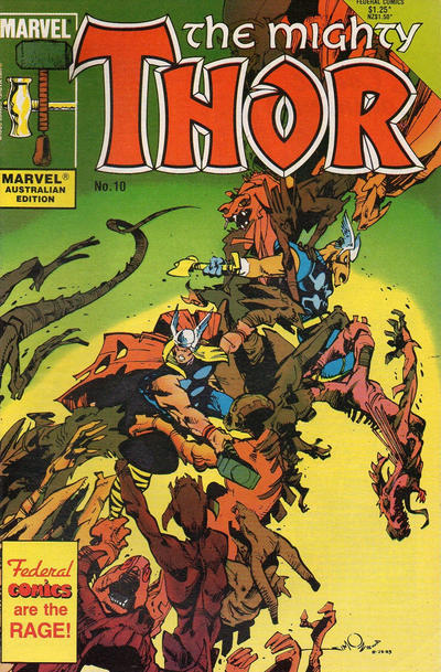 Cover for The Mighty Thor (Federal, 1984 series) #10