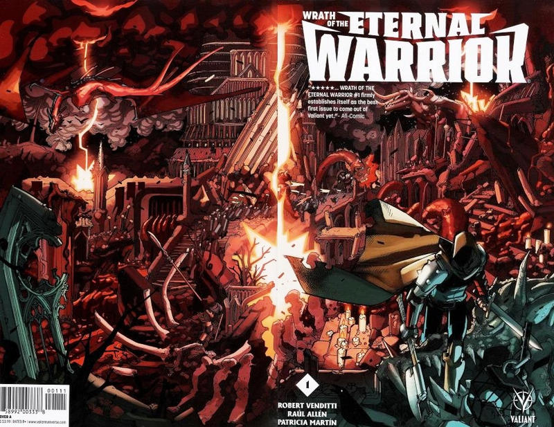 Cover for Wrath of the Eternal Warrior (Valiant Entertainment, 2015 series) #1 [Cover N - Baltimore Comic Con - Bart Sears]